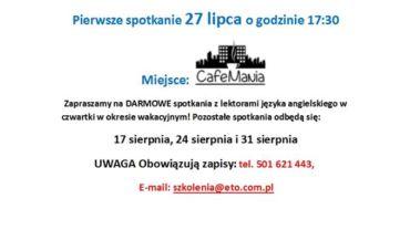 Darmowe konwersacje we współpracy z kawiarniami oławskimi i Urzędem miasta